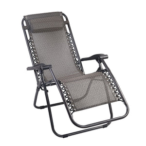 Gardeon Zero Gravity Recliner Chairs Outdoor Sun Lounge Beach Chair Camping - Beige