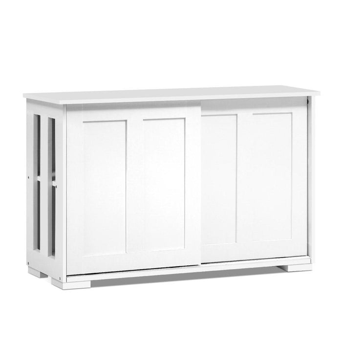 Artiss Buffet Sideboard Cabinet White Doors Storage Shelf Cupboard Hallway Table White