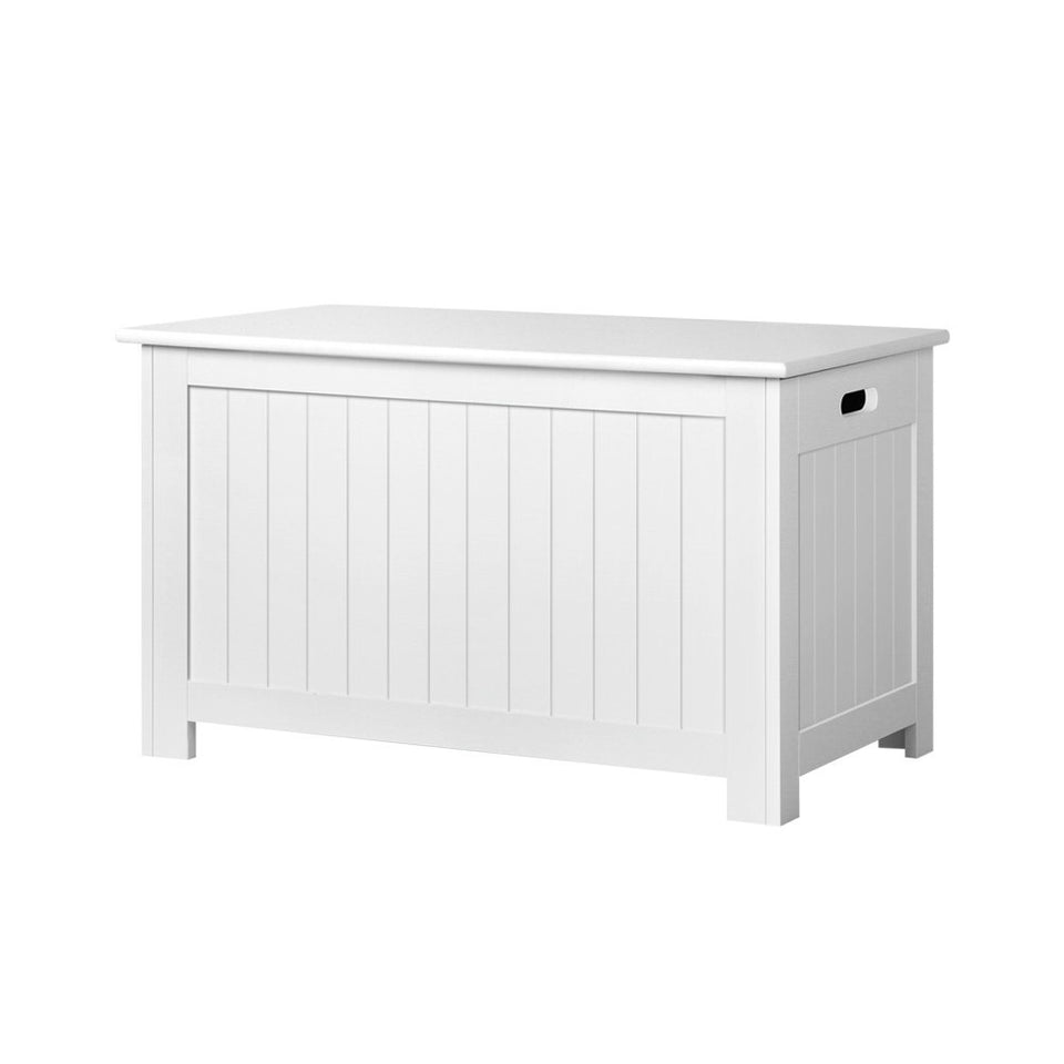 Keezi Kids Wooden Toy Chest Storage Blanket Box White Children Room Organiser