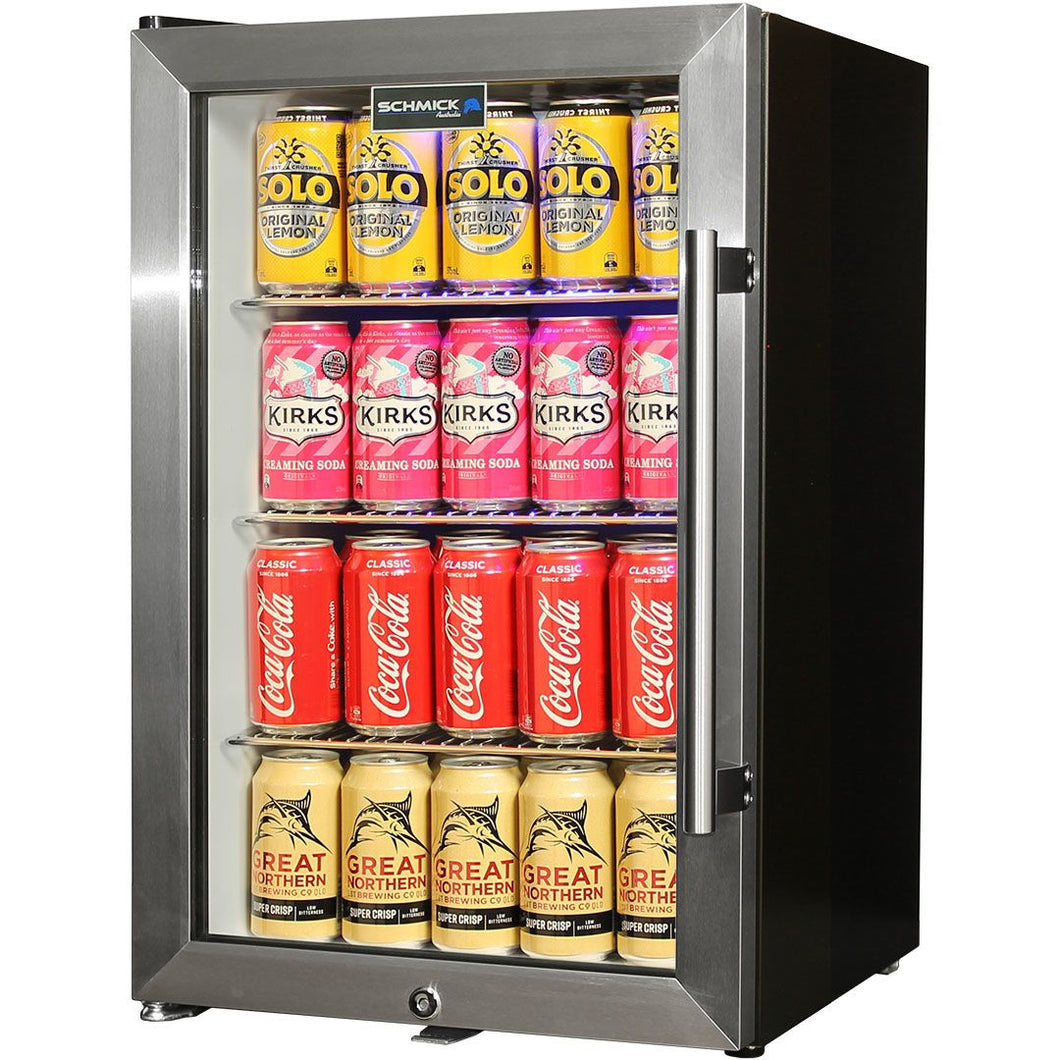 Tropical Glass Door Mini Bar Fridge / 80 Cans Left Hinged MODEL: EC68L-SSH