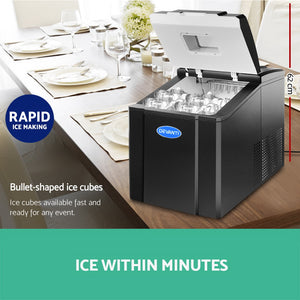 Devanti Portable Ice Cube Maker - Black