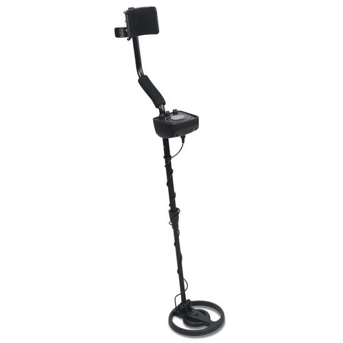 LED Metal Detector with Headphones - Black