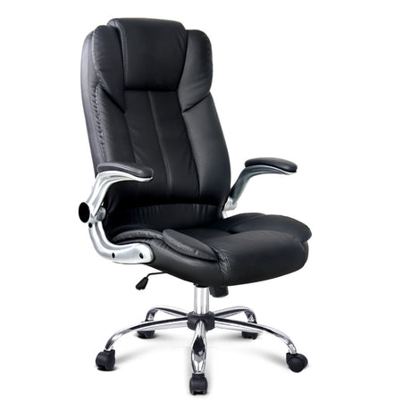 PU Leather Executive Office Desk Chair - Black