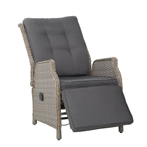 Gardeon Sun lounge Setting Recliner Chair Outdoor Furniture Patio Wicker Sofa