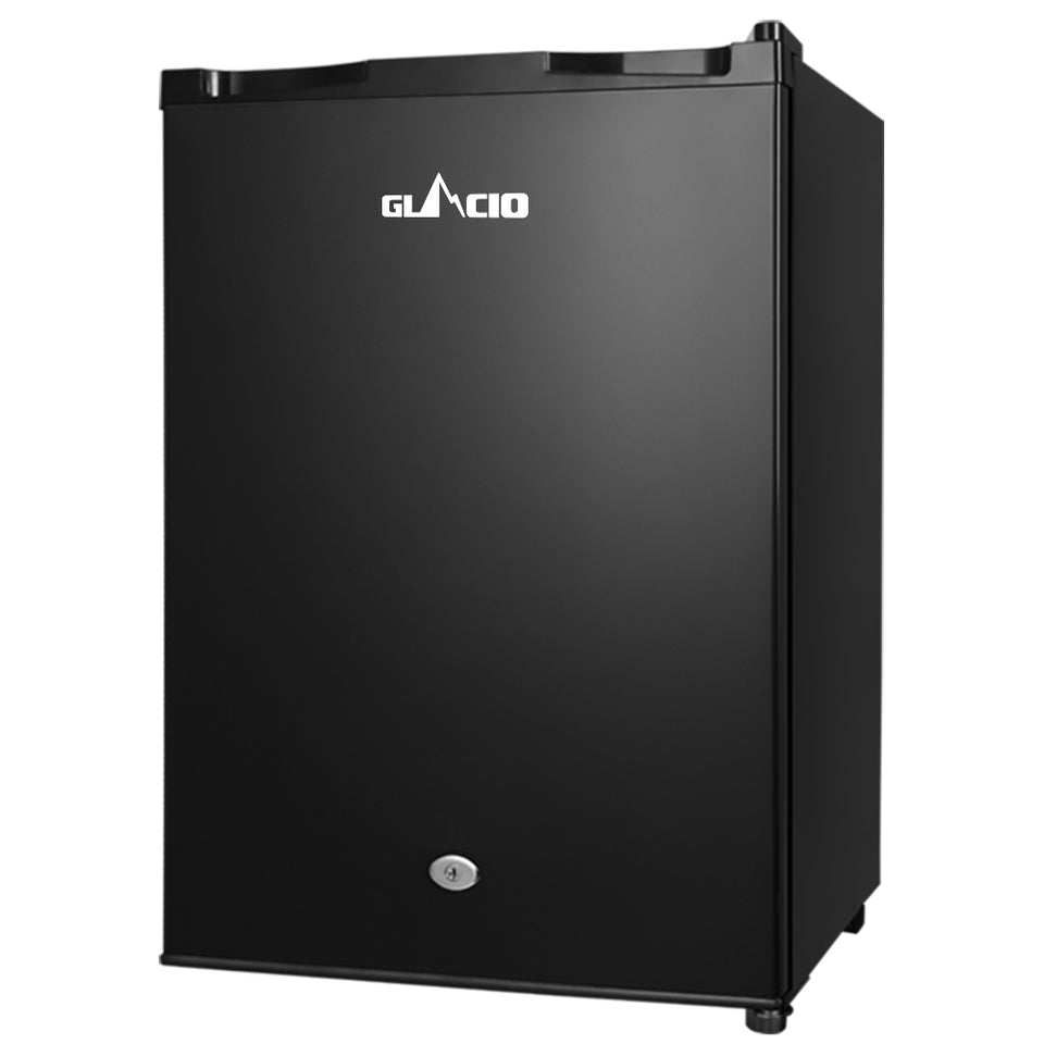 Glacio 80L Portable Fridge Bar Freezer Cooler Upright 12V/24V/240V Caravan 4WD Car Camping Black