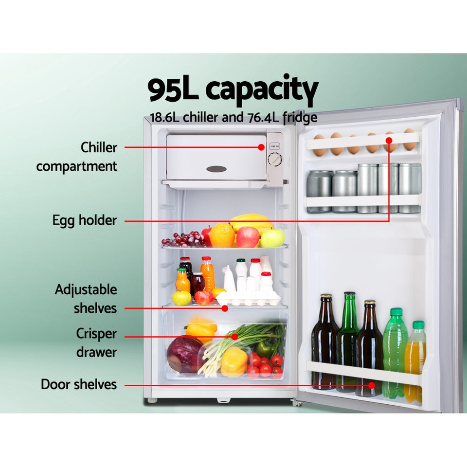 Glacio 95L Portable Bar Fridge Freezer Fridges Cooler 12V/24V/240V Caravan Camp