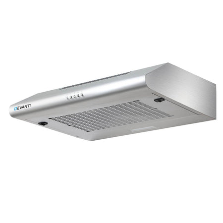 DEVANTI Fixed Range Hood Rangehood Stainless Steel Kitchen Canopy 60cm 600mm