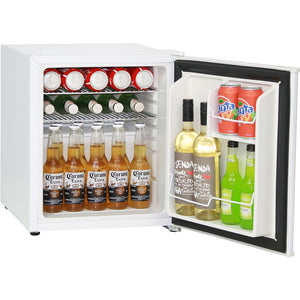 Retro White Vintage Mini Bar Fridge 46 Litre Schmick Brand With Opener MODEL: HUS-BC46W-RET