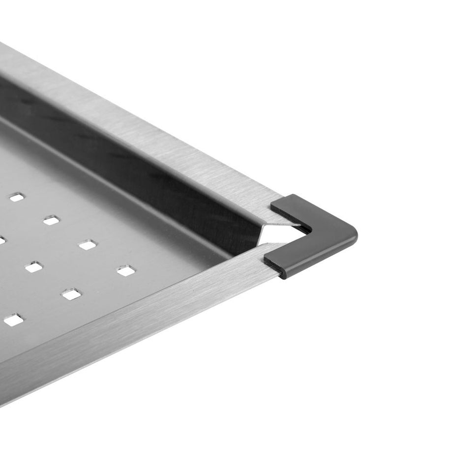Cefito Stainless Steel Sink 425X425MM Colander Kitchen Draining Tray Strainer Silver