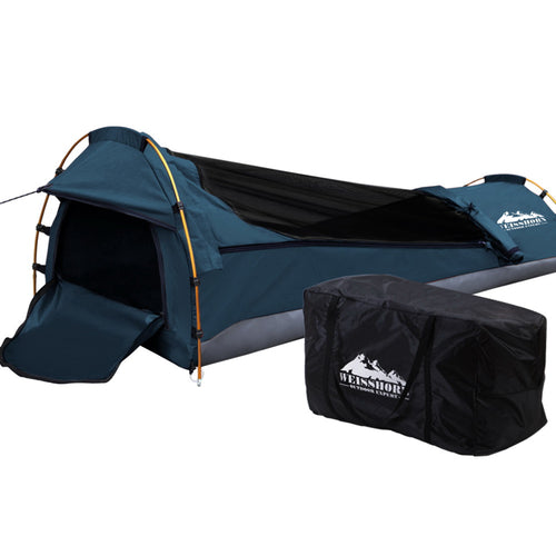 Enjoying the great outdoors is no fun when your tent is not holding up the way it should. Think of those nights when it is just too hot, too wet, or too cold. Or when the creepy crawlies and flying insects have made themselves at home in your shelter. That is why you need our ever-reliable and versatile Weisshorn Single Biker Swag.