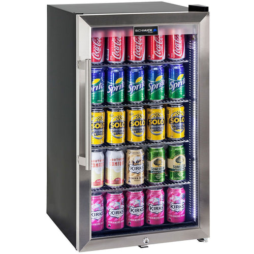 Schmick Outdoor Triple Glazed Alfresco Bar Fridge With Led Strip Lights, Lock and LOW E Glass, indoor use also perfect! MODEL: HUS-SC88-SS