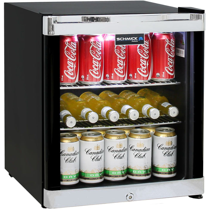 Schmick Tropical Glass Door Mini Bar Fridge 50Litre MODEL: HUS-SC50B