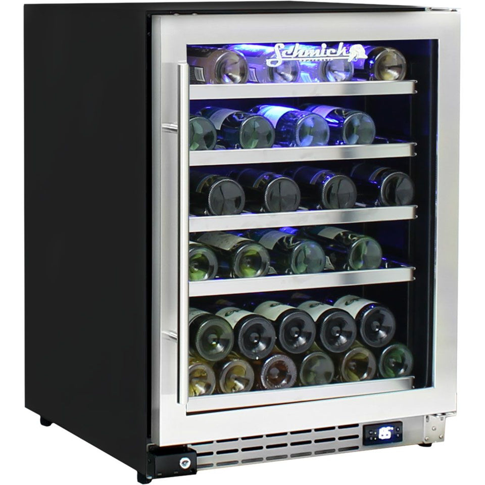 Schmick Under Bench Glass Door Wine Fridge Triple Glazed - Model JC132W
