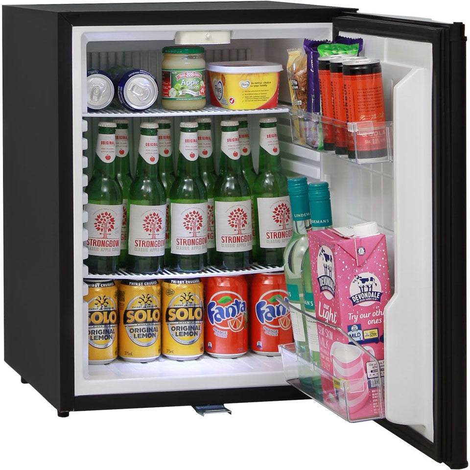 Silent 60 Litre Motel Quiet Mini Bar Fridge With Solid Door And Lock MODEL: DW60E