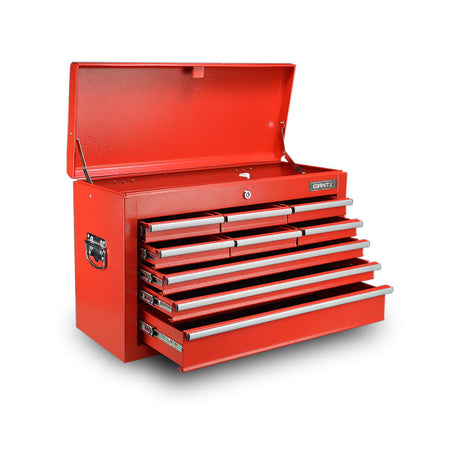 Giantz 9 Drawer Mechanic Tool Box Storage Chest - Red