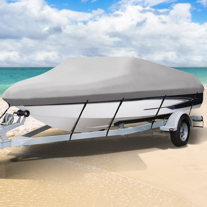 16 - 18.5 foot Waterproof Boat Cover - Grey