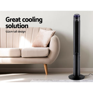 Devanti 122cm 48'' Tower Fan Oscillating Bladeless Fans w/Remote Timer