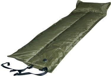 Trailblazer Self-Inflatable Foldable Air Mattress With Pillow - OLIVE GREEN