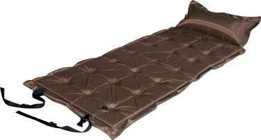 Trailblazer 21-Points Self-Inflatable Satin Air Mattress With Pillow - BROWN