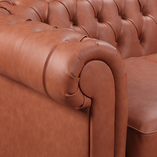 Madeline 2 Seater Brown