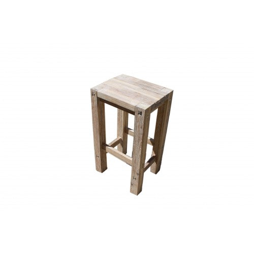 Sturdy Stool White Brush Finish
