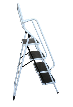 Foldable Non Slip 4 Step Steel Ladder