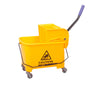 20L Deluxe Mop Wringer Bucket Side Press Janitor Commercial Cleaning