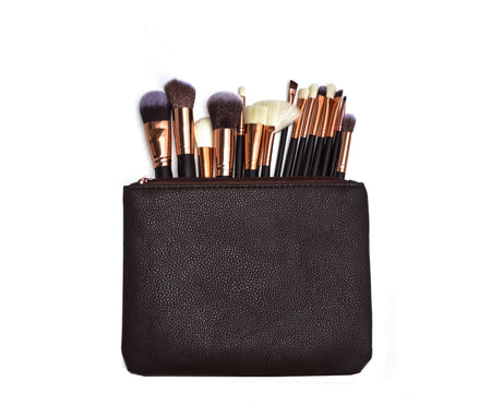 Soft 15Pcs Pro Face Powder Makeup Brushes Set Eyeshader Blending Highlight Tools