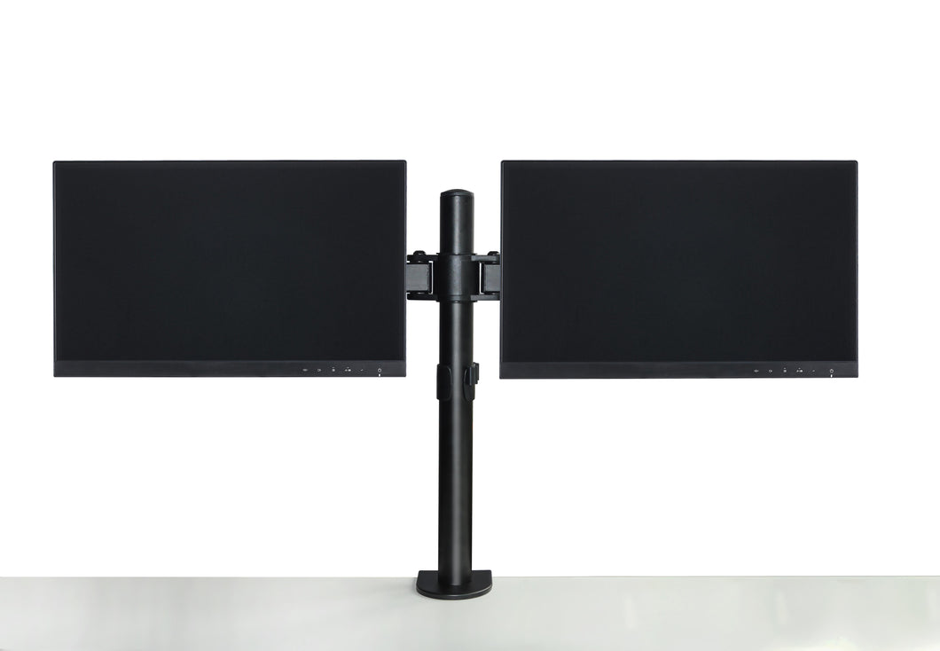 Dual LCD Monitor Desk Mount Stand Adjustable Fits 2 Screens Up To 27