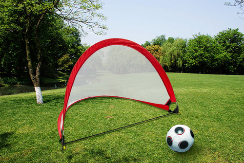 Portable Kids Soccer Goals Set – 2 Pop Up Soccer Goals, Cones, Goal Carry Bag