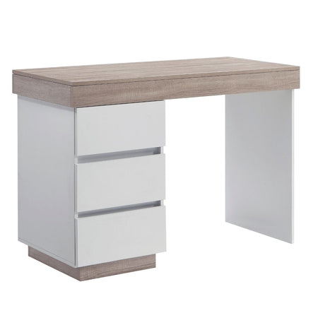 Ashley Coastal White Wooden Office Desk Study Table Workstation Shelf
