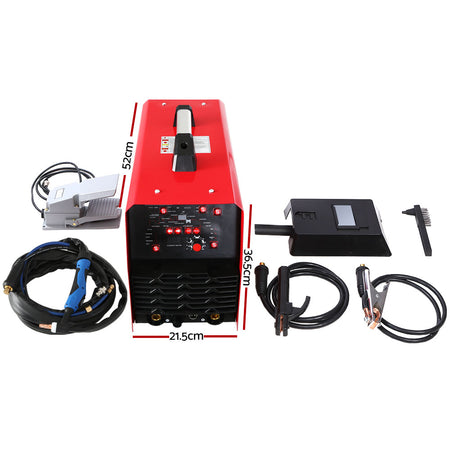 Giantz 250Amp Inverter Welder AC/DC Pulse TIG MMA Aluminum Welding Machine Stick