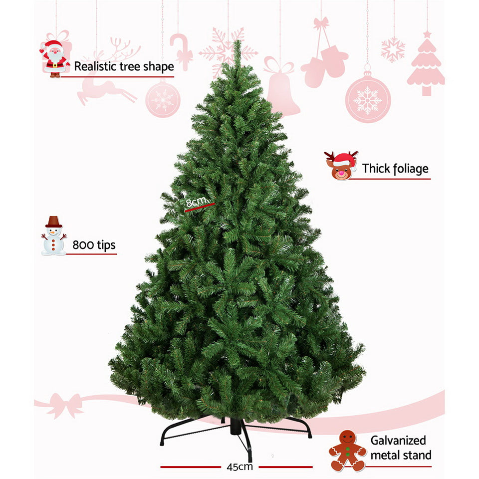 Jingle Jollys 1.8M 6FT Christmas Tree Xmas Decoration Green Home Decor 800 Tips Green