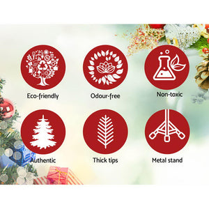 Jingle Jollys Christmas Tree 2.4M 8FT Xmas Decorations Snow Home Decor 1500 Tips
