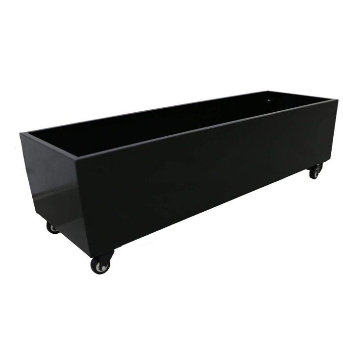 Black Metal Versatility Planter Medium with Wheels