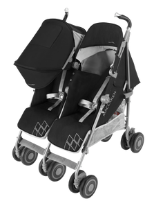Twin Techno Stroller - Black