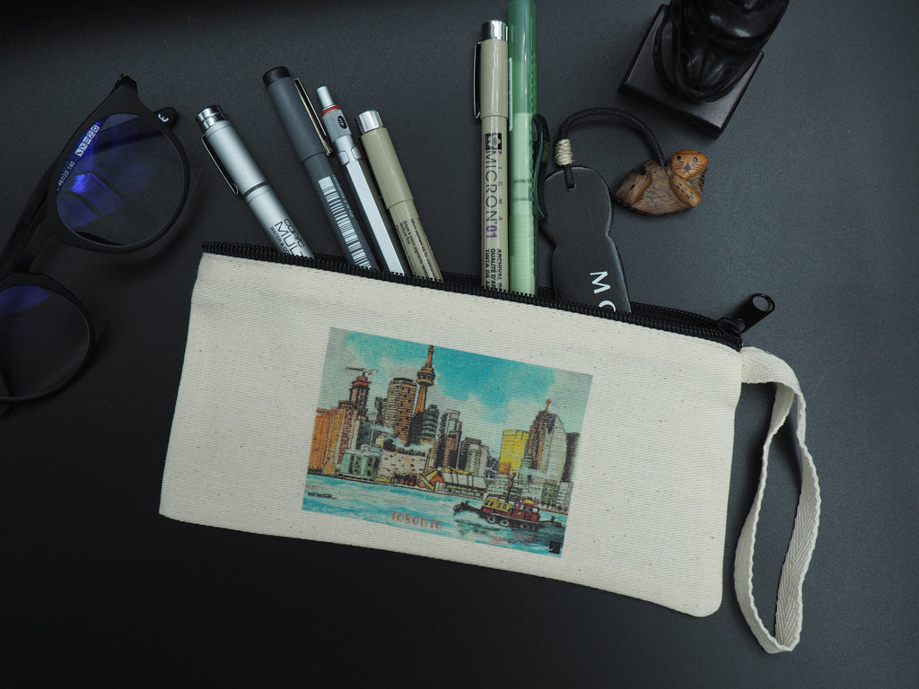 Pencil Case/Pencil Pouch Decorated With Toronto Toronto Skyline