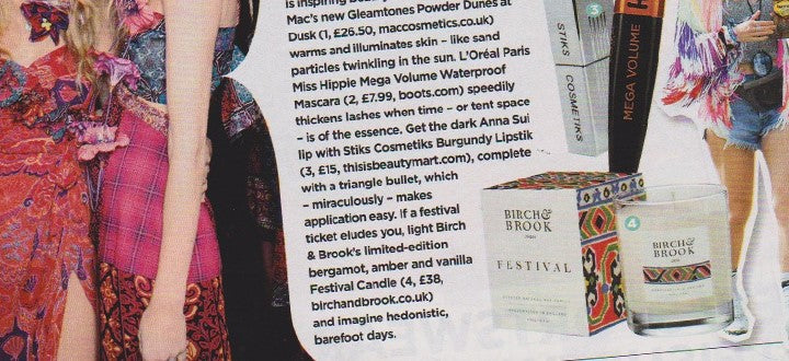 You magazine PR coverage for Festival candle