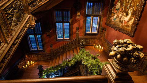 Image: large staircase to support Christmas blog for Birch and Brook