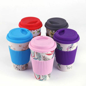 400ml Reusable Bamboo Fiber Coffee Cup Mugs Coffe Travel Mug Drink Water Mug Healthy