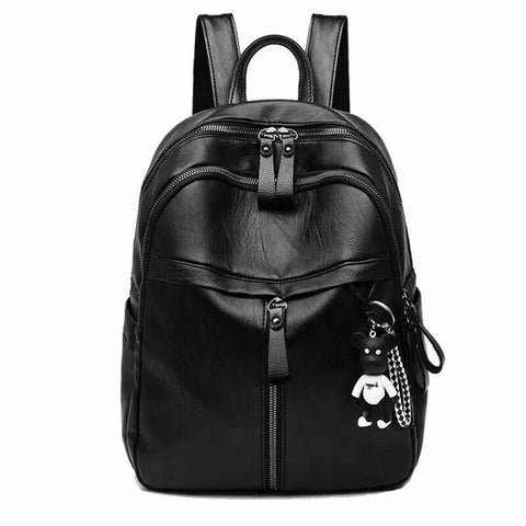 2020 New Fashion Woman Backpack High Quality Youth PU Leather Backpacks for Teenage Girls Female School Bag Hot Sale