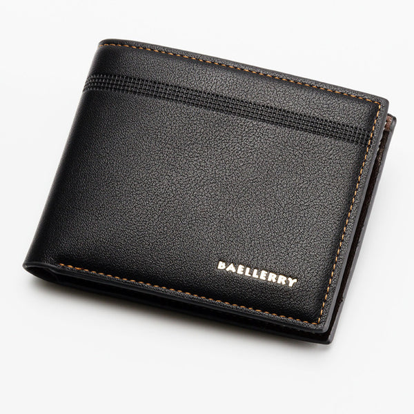 Men Leather Wallets Brand Luxury Short Slim Vintage Male Purses Money Clip Business Credit Card Dollars Portomonee Carteria