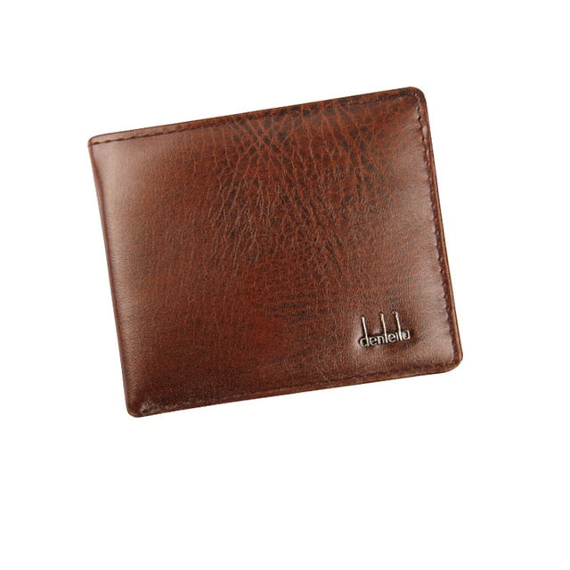 Men Bifold Business Leather Wallet ID Credit Card Holder Purse Pockets Bag carteira portfel purse кошелек мужской портмоне