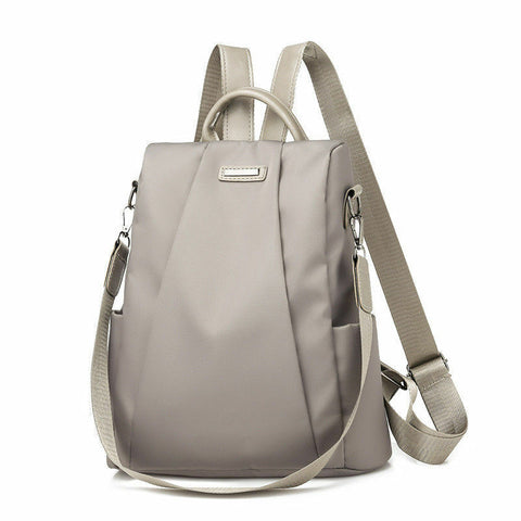 Fashion Preppy Style Soft School Backpack For Teenage Girls Women Black Waterproof Oxford Backpack