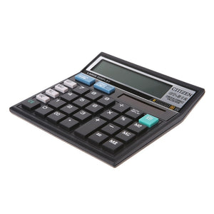 12-Digit Solar Battery Dual Power Large Display Office Desktop Calculator CT-512 667C