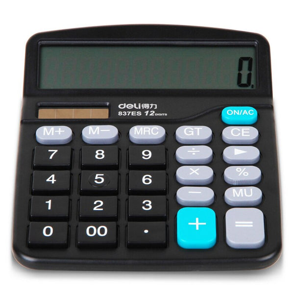 Brand New Genuine Desktop Dual Power General Purpose  Calculator For Office Working, Shipping No Battery