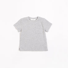 Load image into Gallery viewer, Heather Grey Modal Rib T-shirt