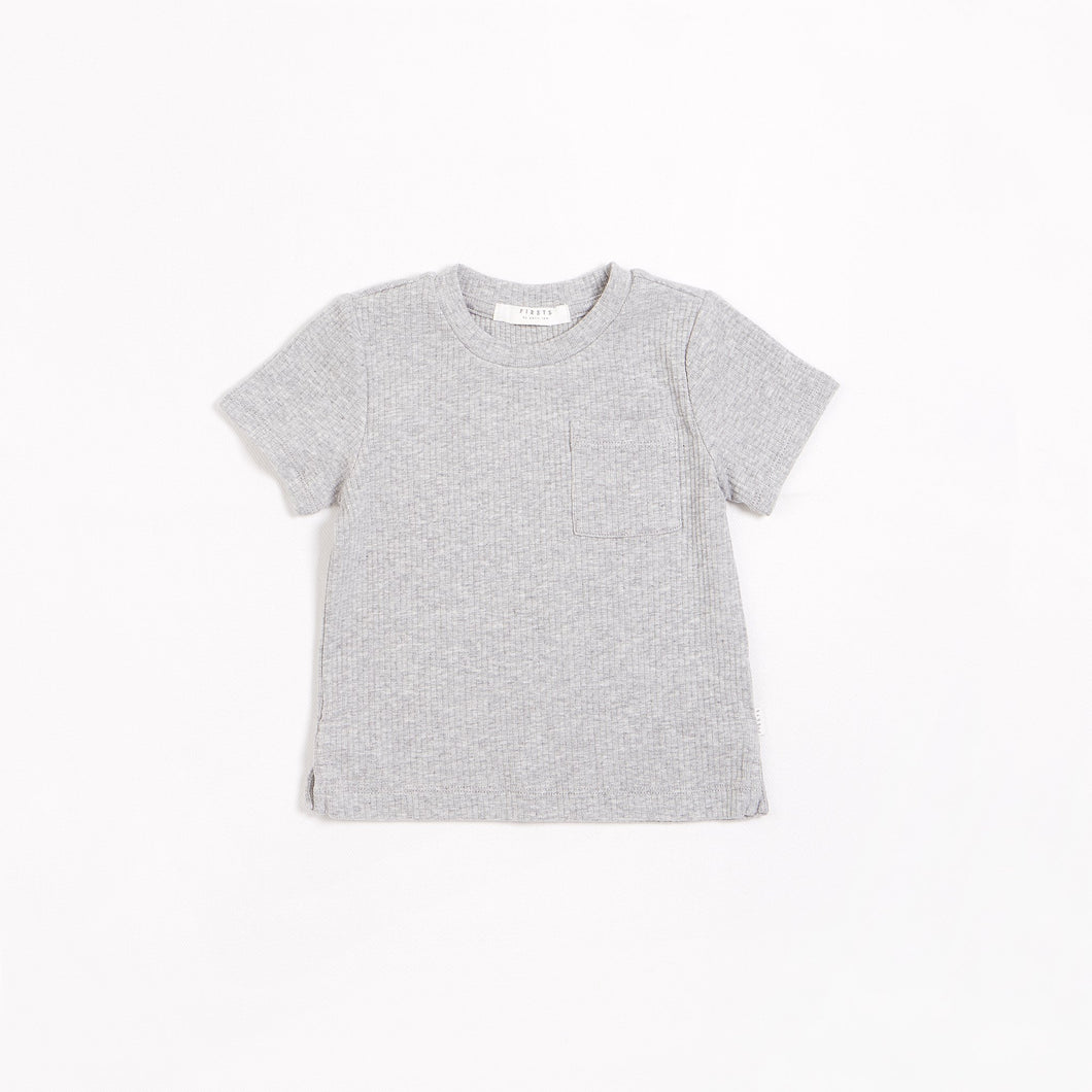 Heather Grey Modal Rib T-shirt