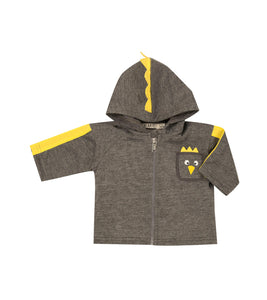 Gray and Yellow Birdy Hoodie