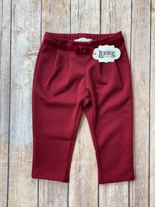 Red Pant with Velvet Bow